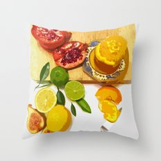 Still Life with Pomegranate Throw Pillow