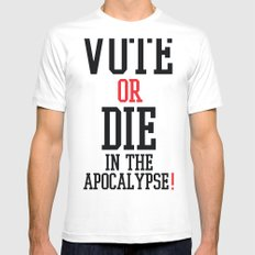 Vote Apocalypse Mens Fitted Tee SMALL White