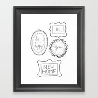 Be Happy In Your New Hom… Framed Art Print