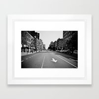 Get On Down The Road Framed Art Print