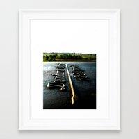 [1280 yards] As the bird flies Framed Art Print