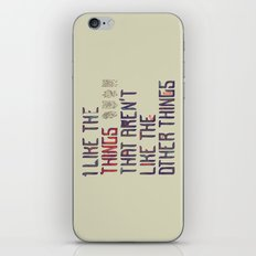The Things I Like iPhone & iPod Skin