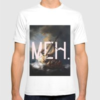 meh. Mens Fitted Tee White SMALL