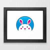 Chubby Bunny Framed Art Print