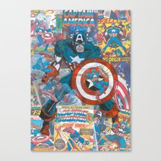 Vintage Comic Capt Ameri… Canvas Print