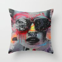 Graffiti Wall NYC Throw Pillow