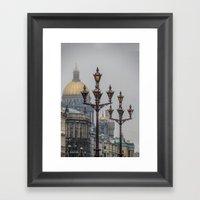 Street lights of Saint Petersburg  Framed Art Print