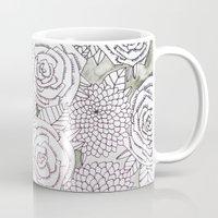 Floral Doodles in Gray Mug