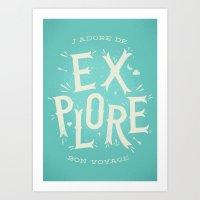 J'adore de Explore Art Print