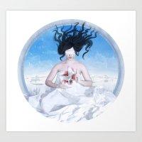 Blood And Snow Art Print