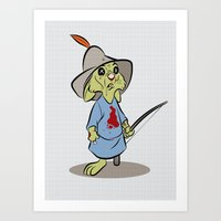 Skippy The Zombie Art Print