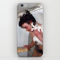 Cat in bathroom iPhone & iPod Skin