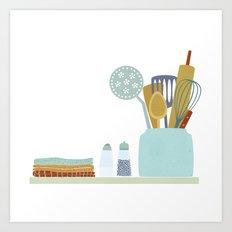 The Kitchen Shelf Art Print