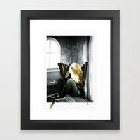 a hipster fairy Framed Art Print