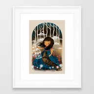 There Once Was A Girl In… Framed Art Print
