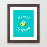 A Bug's Love Life Framed Art Print
