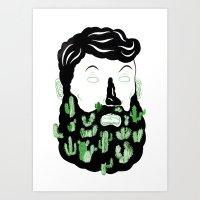 Cactus Beard Dude Art Print