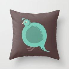 Letter Q // Animal Alphabet // Quail Throw Pillow