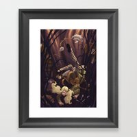 Alice Down The Rabbit Ho… Framed Art Print