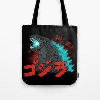 Mighty Kaiju Gojira Tote Bag