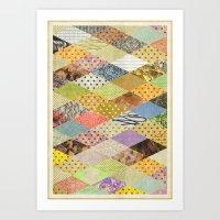 RHOMB SOUP / PATTERN SER… Art Print