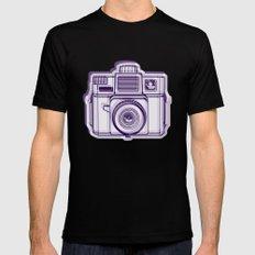 I Still Shoot Film Holga Logo - Reversed Deep Purple Mens Fitted Tee Black SMALL