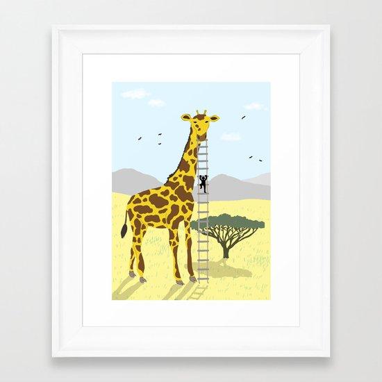 Giant Giraffe Framed Art Print