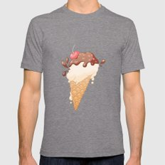 Summer Icecream Mens Fitted Tee Tri-Grey SMALL
