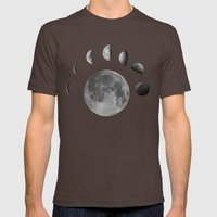 phases of the moon Mens Fitted Tee Brown SMALL