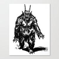 La Créature/The Creatur… Canvas Print