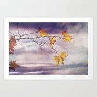 Faded Leaves - JUSTART �… Art Print