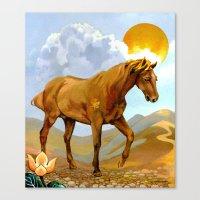 The Sun King - Thoroughbred Stallion Canvas Print