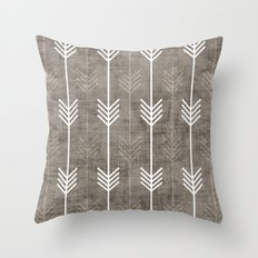 dirty arrows Throw Pillow