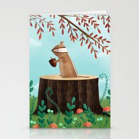 Woodland Friends - Chipm… Stationery Cards