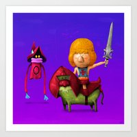 Prince Of Eternia Art Print