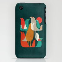 iPhone 3Gs & iPhone 3G Cases featuring Flock of Birds by Budi Kwan
