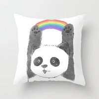 panda beam Throw Pillow