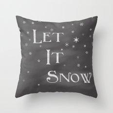 Let It Snow Throw Pillow