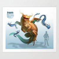 Pokemon-Dragonite Art Print
