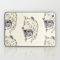 Laptop & iPad Skin featuring WOLF HAT by Mike Koubou