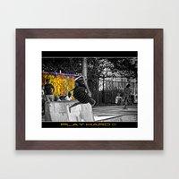 Play Hard !!! Framed Art Print