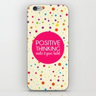 Positive Thinking Quote  iPhone & iPod Skin