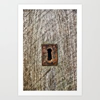 The Old Door Lock Art Print