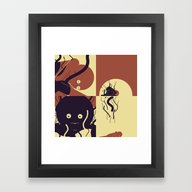 Framed Art Print featuring Are We Dead Yet by Alexis Giroux