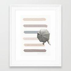 Vague as a Fog Framed Art Print
