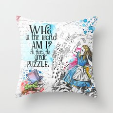 Who In The World Am I? Throw Pillow