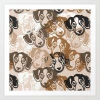 Beagles! Art Print