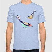 BIRDS Mens Fitted Tee Tri-Blue SMALL