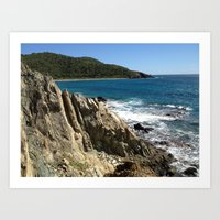 Rock Formation, St. John, East End, Virgin Islands, Caribbean Art Print
