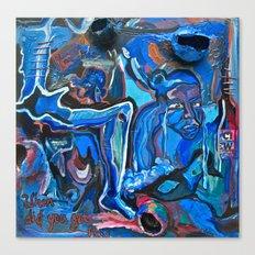The Blue Cadaver Canvas Print